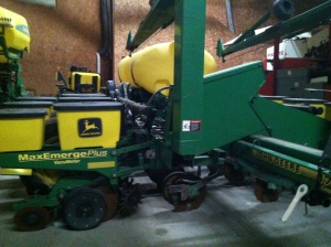 Corn planter before converted into a tomato planter