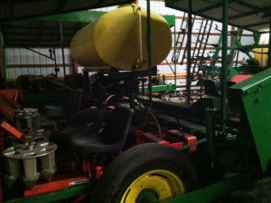 A corn planter which is now the worlds largest tomato planter