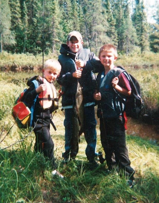 Boys fishing when young