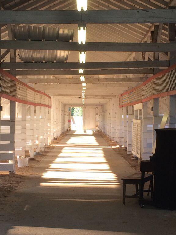 Barn and piano
